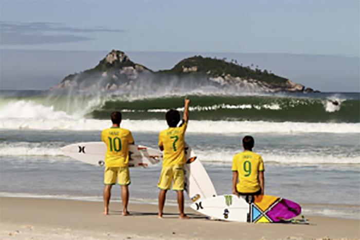 Time brasileiro no WCT. Foto: TWITTER : @NikeRio