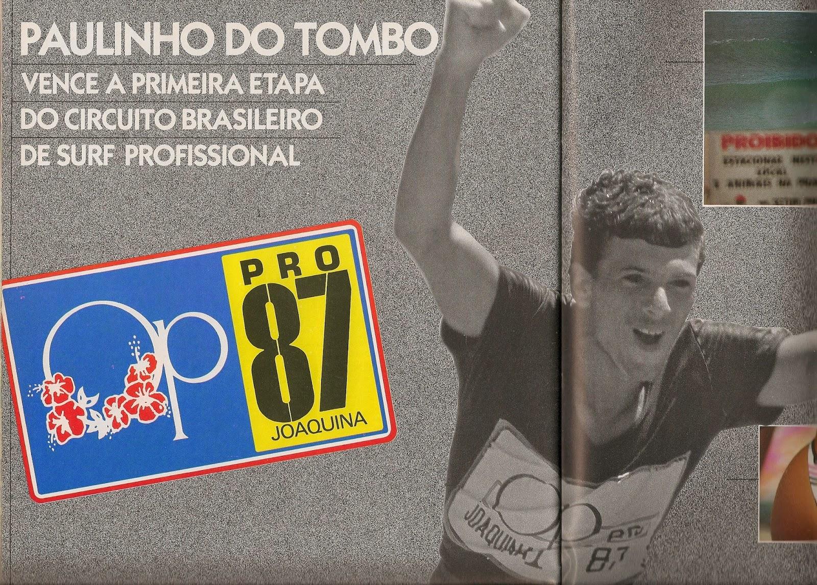 Paulinho do Tombo foi o primeiro campeão brasileiro em 1987. Fonte: Blog Dragão