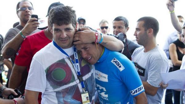 Pinga e Mineirinho juntos na vitória da etapa do Rio em 2011. Foto:ASP Kirstin