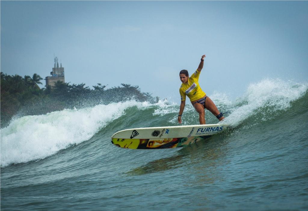 Chloé Calmon em ação durante o mundial da China. Foto: ASP