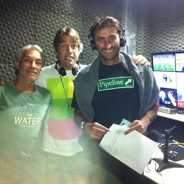 Edinho Leite, Tiago Brant e Renan Rocha, transmitiram quase todo o evento de Bell's no canal ESPN.