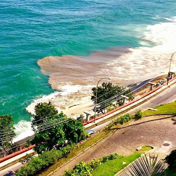 As condições da água impediram a realização da etapa do mundial de surf em São Conrado. Foto: Globo.com