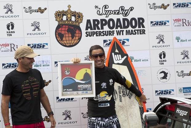 Vice campeão master da ASP. Foto: ASP/ Dvulgação