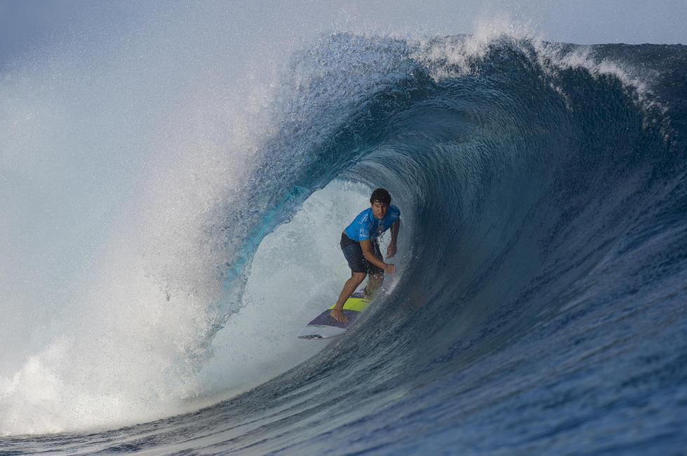 Italo Ferreira foi o melhor brasileiro na competição, mostrando muita maturidade para um estreiante. Foto: WSL/Kirstin