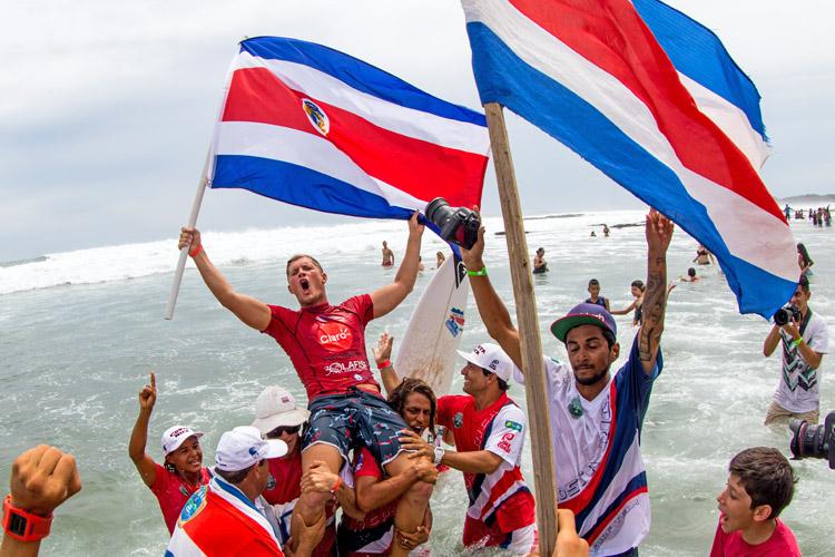 A equipe da Costa Rica foi a grande campeã do evento. Foto: Divulgação ISA