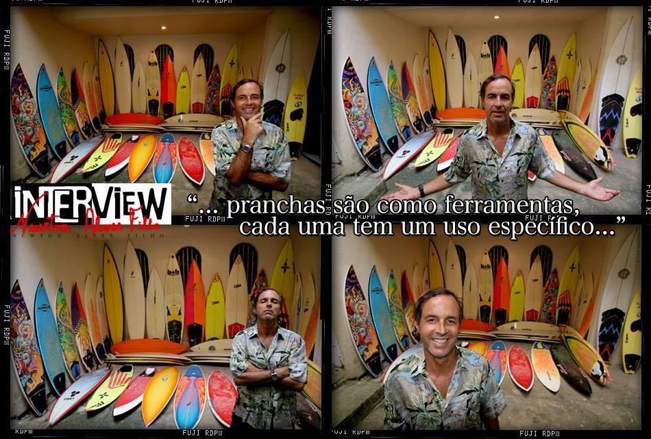 Entrevista com Newtinho para extinta revista Blackwater. Foto: Minduim