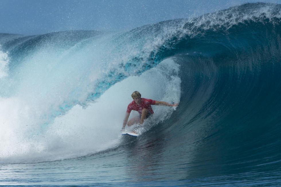 John John Florence voltou de contusão, mas surfou no melhor da sua forma. Foto: WSL / Stephen Robertson