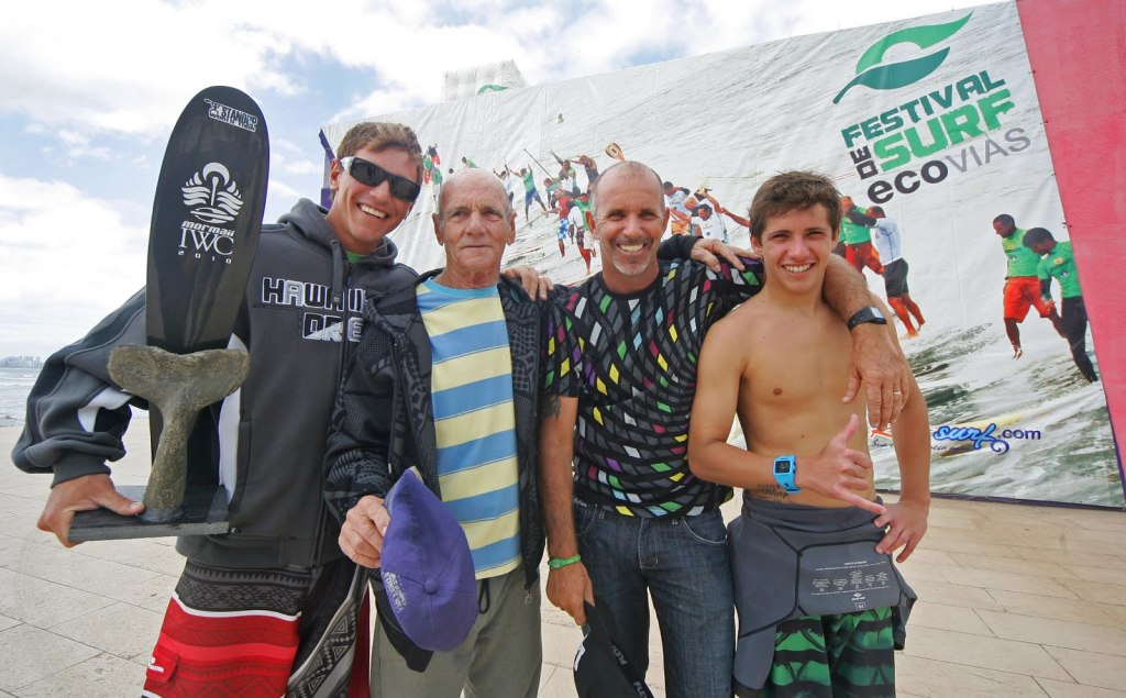 Picuruta Salazar e seus filhos Leco e Matheus Salazar formam uma família de campeões.