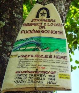 Localismo em Teahupoo