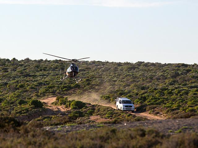 Foram usados 6 helicópteros em 6 locações diferentes durante a produção do filme. Foto: Specker