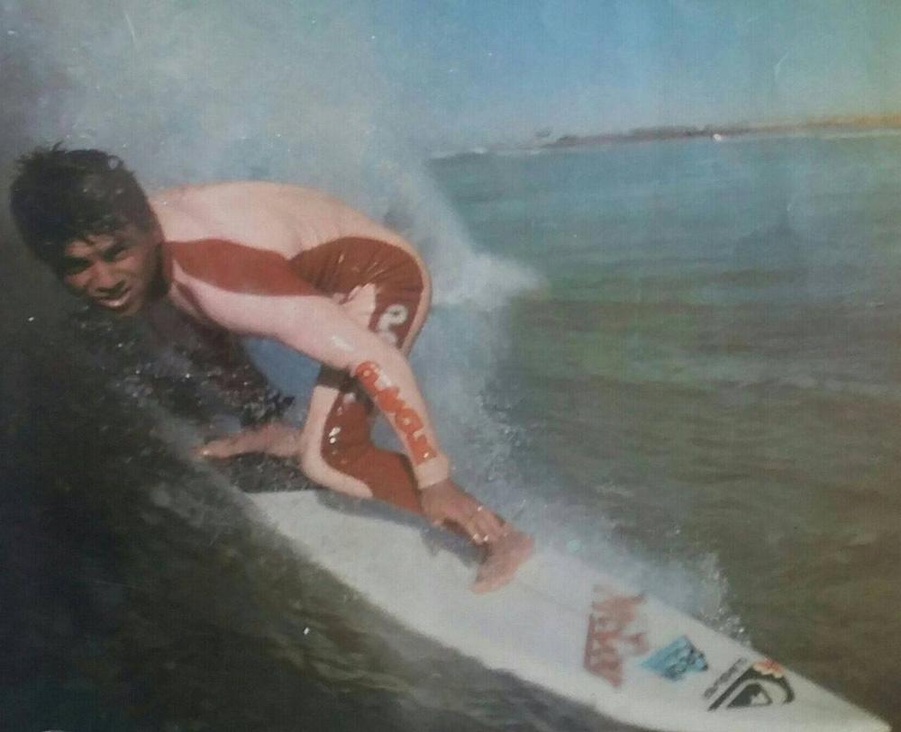 Paulinho Porrete foi um dos melhores surfistas de Pernambuco nos anos 80.