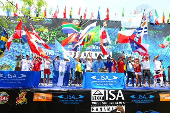O surf pode crescer muito com a inclusão nos jogos olímpicos. Foto: ISA/Divulgação